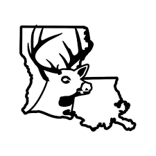 Louisiana State Deer Buck Hunting Vinyl Decal Sticker
