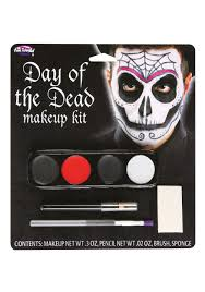 fun world day of the dead male makeup kit