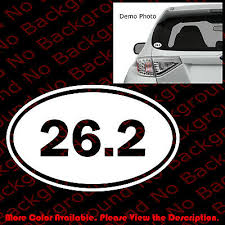 Euro 50k Sports Running Marathon Decal Sticker Car Oval Not Two Colors