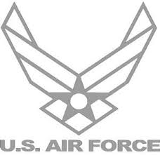 Amazon Com United States Air Force Symbol Decal Sticker Grey 11 5 Inch X 11 Inch Size Extra Large Kitchen Dining