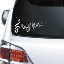 Music Notes Long Window Decal Sticker Custom Sticker Shop