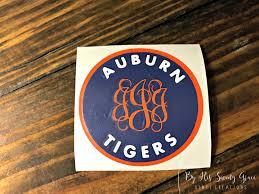 Auburn Tiger W Vine Monogram Auburn Decal Yeti Decal Car Decal College Sports By Byhissavinggrace On Etsy Vine Monogram Auburn Tigers Monogram