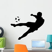 Amazon Com Wallmonkeys Soccer Silhouettes Wall Decal Peel And Stick Graphic Wm25499 24 In W X 20 In H Home Kitchen