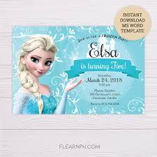 Frozen Elsa Invitation Template Invitaciones De Frozen Invitaciones Cumpleanos Frozen Fiesta De Frozen