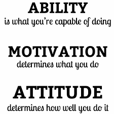 Craftelife Vinyl Wall Quotes Decal Stickers Ability Attitude Motivation