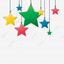نجوم ملونة Png الصور ناقل و Psd الملفات تحميل مجاني على Pngtree