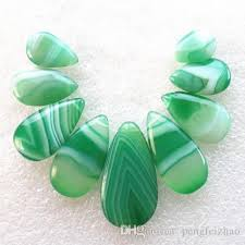 new natural 9pcs set green onyx agate
