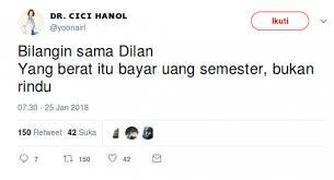 kocak plesetan gombalan dilan untuk milea ala netizen