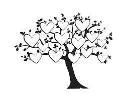 Family Tree Vector With Pictures Frame In Shape Of A Heart Wall Decals Wall Decor Flying Birds Silhouette On A Tree Stock Vector Illustration Of Artwork Wall 175101713