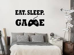 Eat Sleep Game Wall Sticker Decals Bedroom Gaming Room Decor Art For Boys Girls