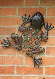 frog wall art indoor outdoor garden metal