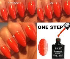 bluesky gel polish one step orangey red