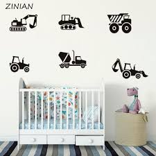 Construction Vehicles Wall Decal Sticker Boys Room Wall Creative Decoration Removable Vinyl Art Stickers Kids Room Child Wall Stickers Children Wall Decals From Joystickers 15 83 Dhgate Com