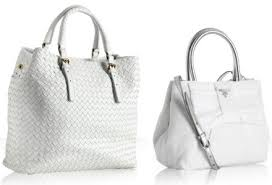 the white leather prada tote handbag