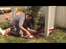 Wambam S Jiminy Picket Vinyl Fence Installation Youtube