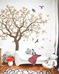 Large Family Tree Vinyl Decal With Bird Stickers Nature Wall Mural Nt040 Tree Birds Decal Tree Wall Decal Living Room Tree Decal Nursery Tree Wall Decal