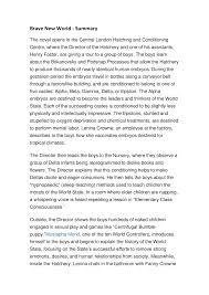 Brave New World - Summary - StuDocu