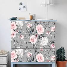 Amazon Com Alwayspon Self Adhesive Dresser Sticker Peel And Stick Furniture Stickers Decals Removable Furniture Skin 008 Malm Home Kitchen