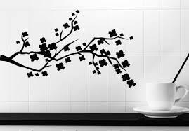 Decor Decals Stickers Vinyl Art N122 Wall Sticker Vinyl Decal Beautiful Branch Of A Tree With Flowers Home Garden Vibranthns Lk