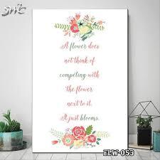 jual hiasan dinding poster kayu quotes flora bunga home decor