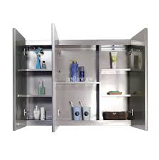 stainless steel silver mirror cabinet