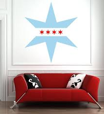 Chicago Flag Star Wall Decal Star Wall Decals Chicago Flag Chicago Tattoo
