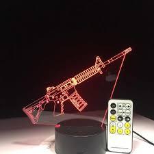3d Led Toy Machine Gun Desk Lamp Usb Visual Luminaria Kids Bedroom Bedside Nightlight Sleep Lighting Fixtures Decor Night Lamp For Kids Night Lampcute Night Lamp Aliexpress