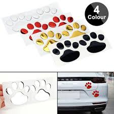 Mega Discount 35e9 2pcs Cute Paw Car Sticker Dog Footprint Decals Puppy Claw For Bumper Windshield Door Mirror Motorcycle Refrigerator Wall Cicig Co