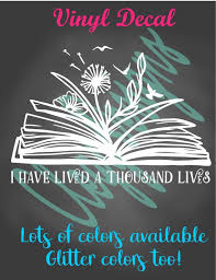 Book Lover Decal Librarian Gift Reading Decal Book Worm Car Etsy