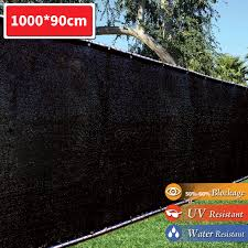 Fence Black Fence Privacy Screen Windscreen Shade Fabric Mesh Net For Outdoor Shopee Malaysia