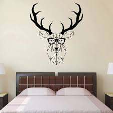 Polygonal Deer Wall Stickers Geometric Animal Decals Antlers Vinyl Wall Decal Living Room Home Decor Art Mural Hipster O283 Wall Stickers Aliexpress