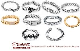 snless steel cuban link chain and