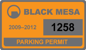 Black Mesa Car Stickers Alexey Staroselets