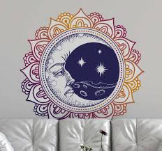 Sun And Moon Mandala Living Room Wall Decal Tenstickers