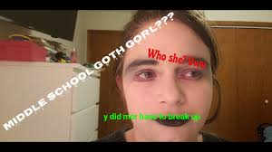 middle goth makeup tutorial