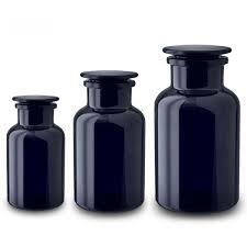miron glass uk apothecary jar dark