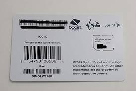 sprint uicc icc micro sim card