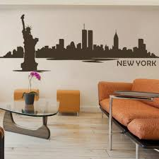 New York Mets Wall City Skyline Decal Sticker Design Themed Yankees Logo Rangers Vamosrayos
