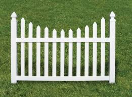 4 Foot Vinyl Scalloped Picket Fence Fairway Architectural Railing Solutions