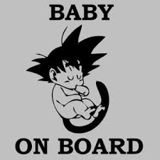 Car Truck Window Decal Baby On Board Dragon Ball Z Dbz Kid Goku Car Truck Window Vinyl Sticker Decal
