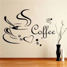 New Wall Decals Kitchen Coffee Wall Stickers Wall Sticker Removable For Dining Room Cafe And Restaurant Room Decal Wall Stickers Aliexpress