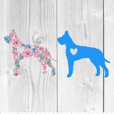Great Dane Car Decal Sticker Great Dane Car Window Decal Etsy