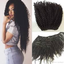 brazilian hair afro curly clip