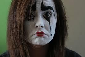 photography of woman clown makeup