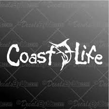 Shop Here For Coast Life Marlin Car Truck Decals