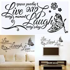 3d Live Laugh Love Quotes Butterfly Wall Stickers Art Room Decal Home Decor New Ebay
