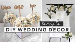 simple diy wedding decor centerpieces
