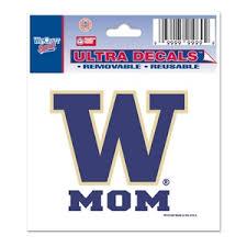 University Of Washington Huskies Mom 3x4 Ultra Decal At Sticker Shoppe