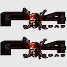 Fx4 Jolly Roger Edition Truck Decals Ford Pirate Skull Lariat Sticker