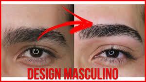 🔴COMO FAZER design de sobrancelhas MASCULINA passo a passo - YouTube